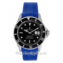 Rolex Submariner Replica Watches Rubber Strap 16610 40MM