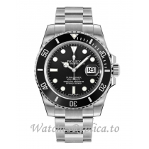 Fake Rolex Submariner Date 116610LN-0001 Black Dial Men's Watch 40MM