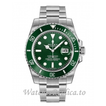 Rolex Submariner Date Replica 116610LV-0002 Green Dial Men's Watch 40MM