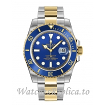 Rolex Submariner Date Replica 116613LB-0005 Two Tone Blue Dial Men's Watch