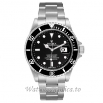 Replica Rolex Submariner Watch Black Dial 16610 40MM