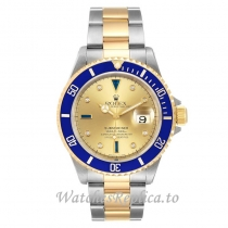 Replica Rolex Submariner Watch Gold Dial 16613 40MM