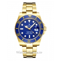 Swiss Rolex Submariner Replica Blue Dial 16618 40MM