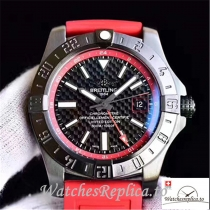 Swiss Breitling Avenger II GMT Replica A3239011/BC35/433X/A20BA.1 Red Strap 43MM