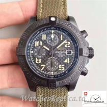 Swiss Breitling Avenger II USA Military Limited Edition Replica M133715N Green Strap 45MM