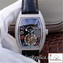 Swiss Franck Muller Crazy Color Dreams Tourbillon Replica Diamonds Bezel 39.5 MM×55.3 MM