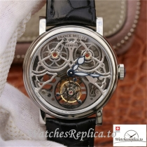 Swiss Franck Muller Giga Tourbillon Replica 7048 T G SQT BR Black Strap 43.6 MM