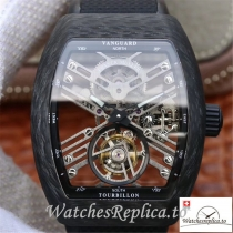 Swiss Franck Muller Vanguard Replica V45 T SQT Black Strap 44MM×53.7MM