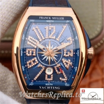 Swiss Franck Muller Vanguard Replica V45 001 Blue Strap 45MM