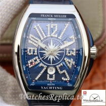Swiss Franck Muller Vanguard Replica V45 002 Blue Strap 45MM