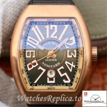 Swiss Franck Muller Vanguard Replica V45-01 Black Strap 45MM