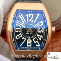 Swiss Franck Muller Vanguard Replica V45-02 Black Strap 45MM