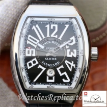 Swiss Franck Muller Vanguard Replica V45-04 Black Strap 45MM