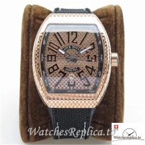 Swiss Franck Muller Vanguard Replica V45 Black Strap 44 MM × 53.7 MM