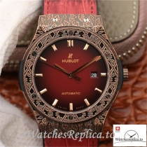 Swiss Hublot Classic Fusion Arturo Fuente Limited Edition Replica 511.OX.6670.LR.OPX17 Red Strap 45MM