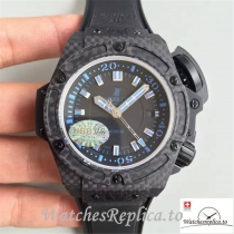 Swiss Hublot King Power Musee Oceanographic Replica 731.QX.1190.GR Black Strap 48MM