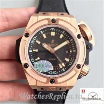 Swiss Hublot King Power Musee Oceanographique Monaco Replica 731.OX.1170.RX Black Strap 48MM