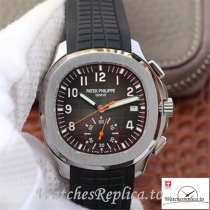 Swiss Patek Philippe Aquanaut Chronograph Replica 5968A-001 Black Strap 42MM