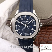 Swiss Patek Philippe Aquanaut Dual Time Replica 5164A-001 Blue Strap 40.8MM