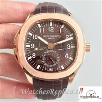 Swiss Patek Philippe Aquanaut Travel Time Replica 5164R-001 Dark Brown Strap 40.5MM