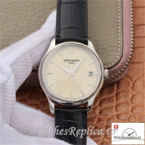 Swiss Patek Philippe Calatrava Replica 5227 Black Strap 39MM×10.2MM
