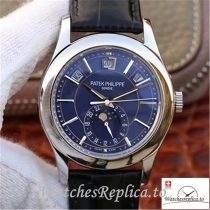 Swiss Patek Philippe Complications Annual Calendar Replica 5205G-013 Black Strap 40MM