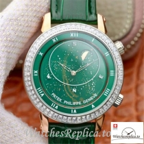 Swiss Patek Philippe Grand Complications Replica 5102PR 001 Green Strap 43MM