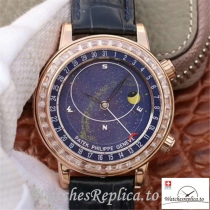 Swiss Patek Philippe Grand Complications Replica 6103P-001 Black Strap 43MM