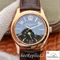 Swiss Patek Philippe Grand Complications Annual Calendar Replica 5205G-001 Brown Strap 40MM