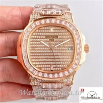 Swiss Patek Philippe Nautilus Jumbo Replica 5719/1G-001 001 Diamonds Strap 40MM