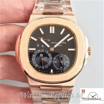 Swiss Patek Philippe Nautilus Moonphase Replica 5712R-001 Rose Gold Strap 40MM