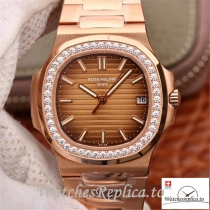 Swiss Patek Philippe Nautilus Replica 5711 007 Diamonds Bezel 40MM