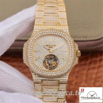 Swiss Patek Philippe Nautilus Jumbo Replica 5711 009 Diamonds Bezel 40MM