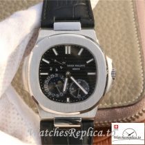 Swiss Patek Philippe Nautilus Moonphase Replica 5712G-001 Black Strap 40MM
