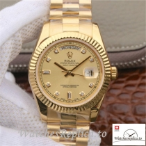Swiss Rolex Day Date II Replica 218238 Yellow Gold Strap 40MM