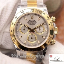 Swiss Rolex Daytona Cosmograph Replica M116503-0002 Gray And Gold Strap 40MM
