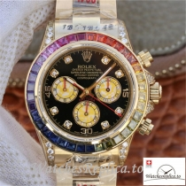 Swiss Rolex Daytona Cosmograph Replica 116598RBOW Gold Strap 40MM