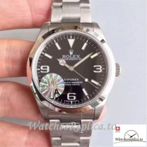 Swiss Rolex Explorer Replica 214270 Black Dial 40MM