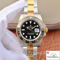 Swiss Rolex GMT-Master II Replica 116713LN 001 Black Dial 40MM