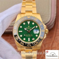 Swiss Rolex GMT Master II Replica 116718LN Gold Strap 40MM
