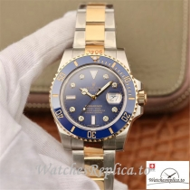 Swiss Rolex Submariner Date Replica 116613 Blue Bezel 40.5MM