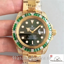 Swiss Rolex Submariner Date Replica 116618LV 18K Yellow Gold Strap 40MM
