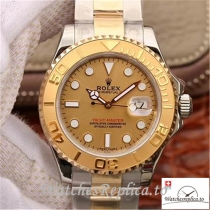 Swiss Rolex Yacht Master Replica 116623 001 Gold Bezel 40MM