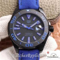 Swiss Tag Heuer Aquaracear Replica WAY208C.RHZ4752 Blue Strap 41MM