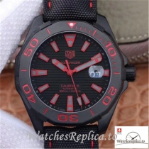 Swiss Tag Heuer Aquaracer Replica WAY208C.RHZ4937 Black Strap 41MM