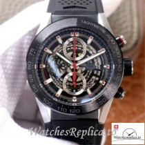 Swiss Tag Heuer Carrera Replica CAR201V.FT6046 Black Strap 45MM