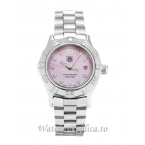 Tag Heuer Aquaracer Mother of Pearl Pink   Diamond Dial WAF141H.BA0824 27 MM