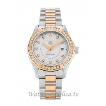 Tag Heuer Aquaracer Mother of Pearl   White Diamond Dial WAP1452.BD0837 27 MM