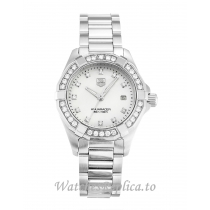 Tag Heuer Aquaracer Mother of Pearl   Silver Diamond Dial WAY1414.BA0920 27 MM