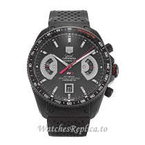 Tag Heuer Grand Carrera Black Dial CAV518B.FC6237 43 MM